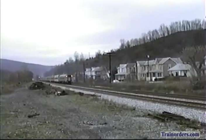 Eastbound Amtrak through Hyndman, 1991