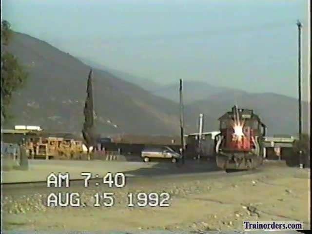 SP 8230 East  at Dike, CA.East