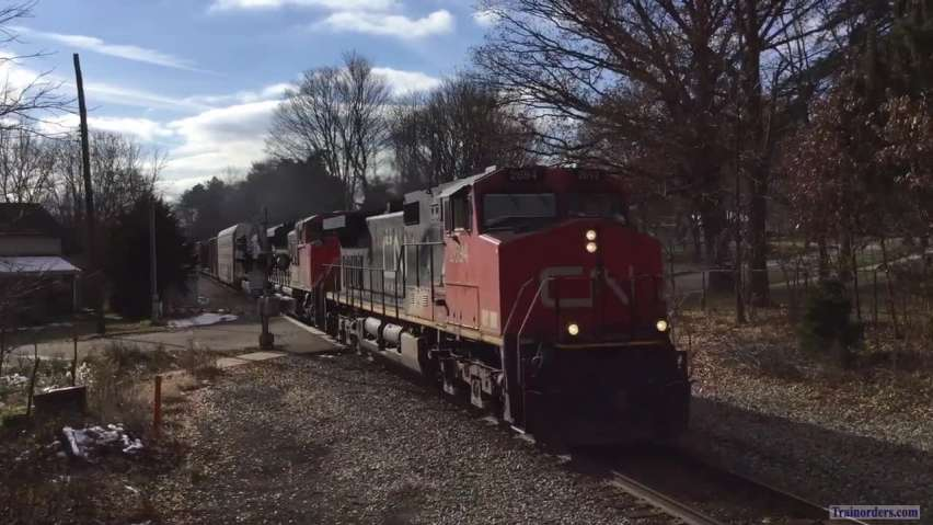 Fast Freight CN Style in Michigan