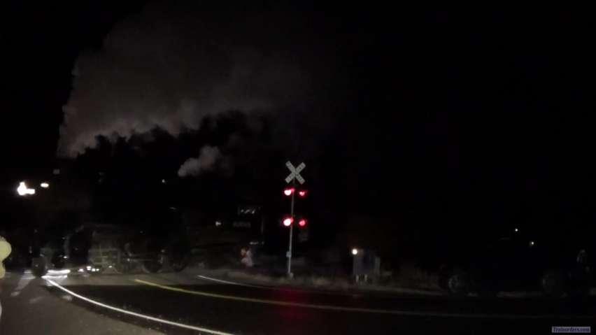 Steam at Night Soo #1003 running in the dark