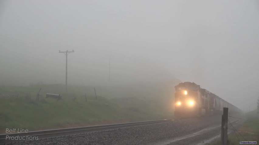 Montana Rail Link - Bad Weather on Bozeman Pass