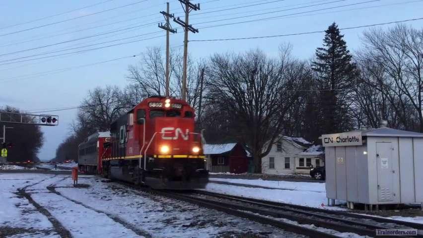 11/30/18 CN Track Geomety Car on the Flint Sub