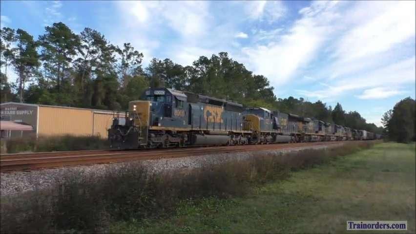 CSX Freight Extra at Hilliard, Florida
