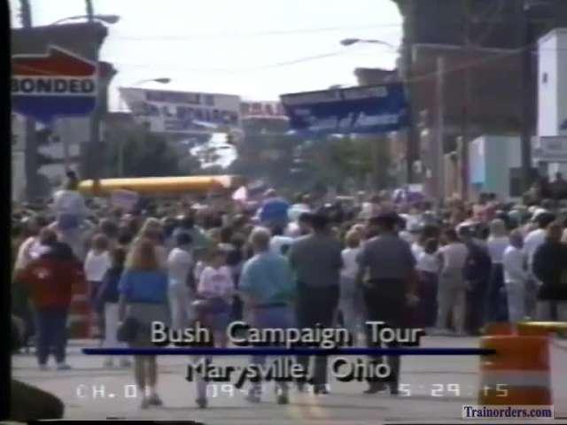More George Bush campaign train video