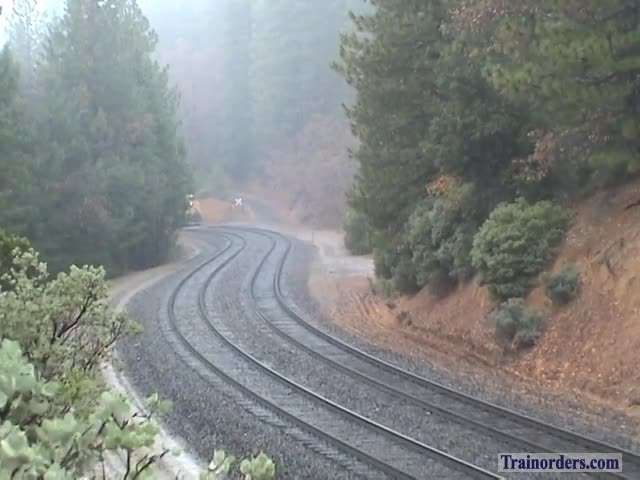 UP SD90 With Westbound Ballast East of American, 11/2011