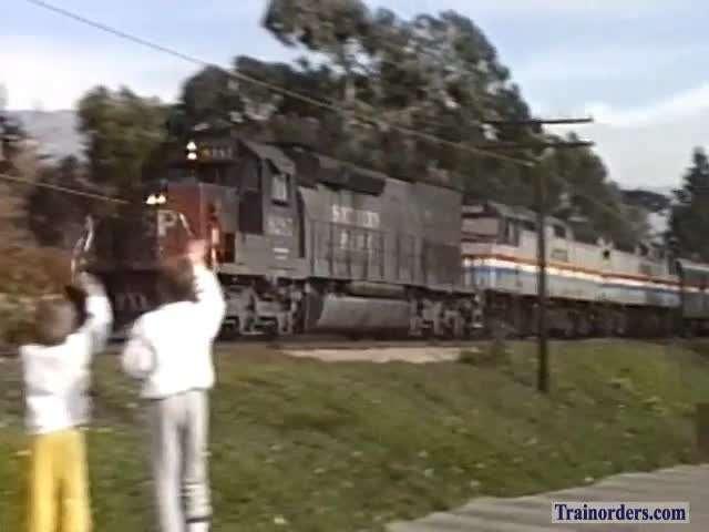 Amtrak & Southern Pacific - Santa Barbara 1986