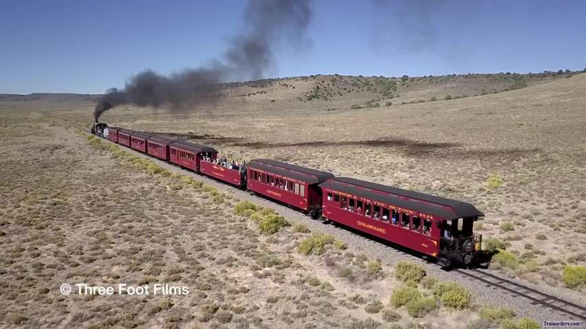 Cumbres & Toltec - K36 #488 At Line Speed At Milepost 285