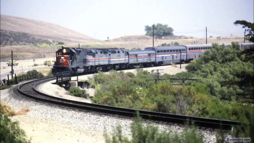 SP Amtrak Number 13 at Refugio on the Coast