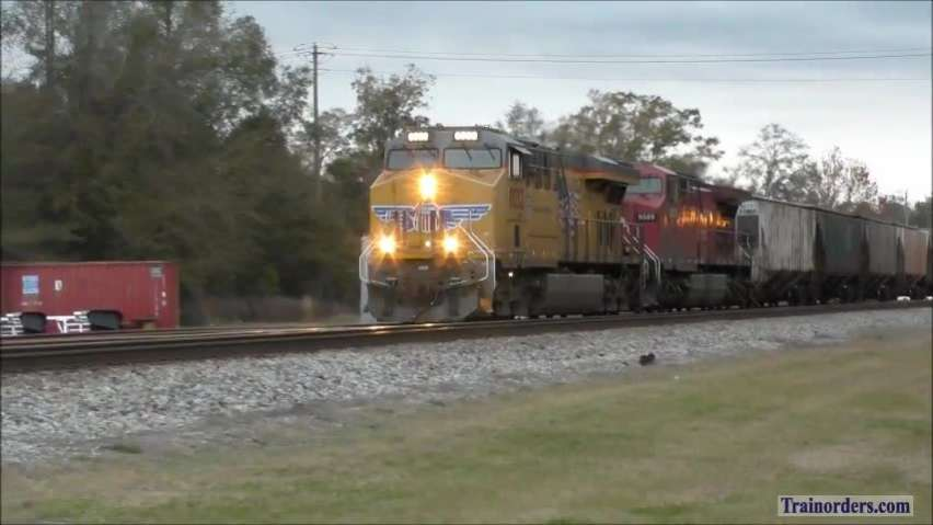CSX Phosphate train with UP and CP power
