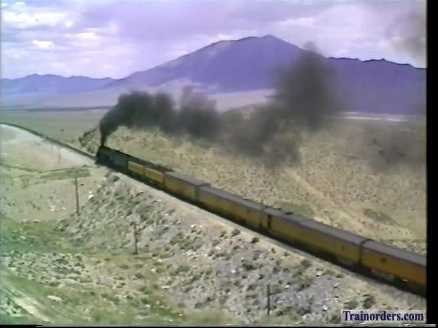 UP 3985 Glory Days By Herself, Arnold Loop,Nevada 1992