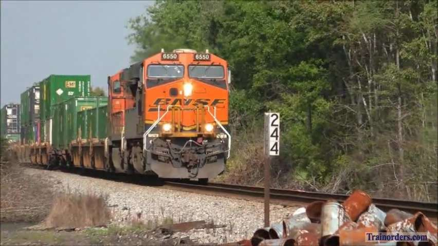 NS 209 & 210 at Crawford, FL with BNSF power