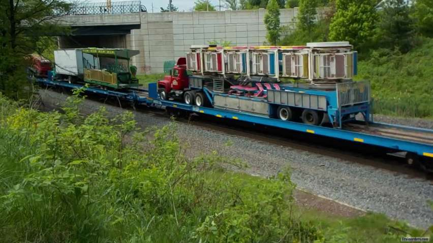 James E. Strates Train passing thru Belle Mead (NJ)