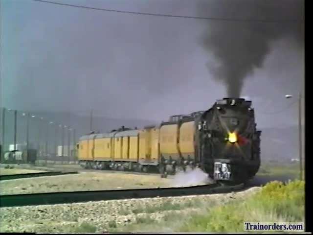 Steam Articulation Study 7-30-1992 UP3985 East, Elko,Nevada
