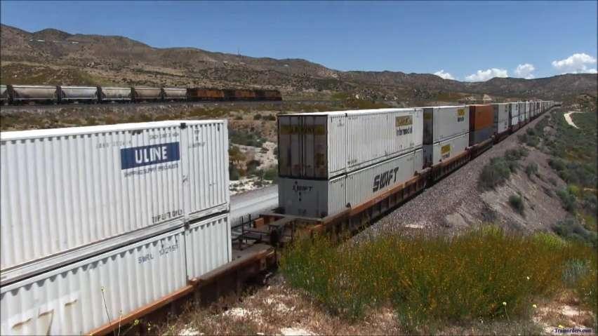 Trains on top of Trains (Cajon Pass)