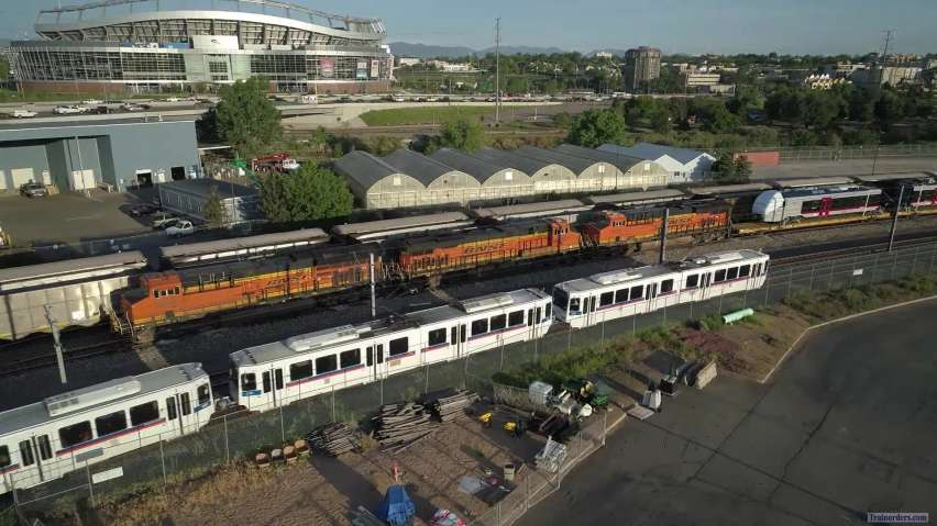 BNSF Train with TexRail DMU delivery