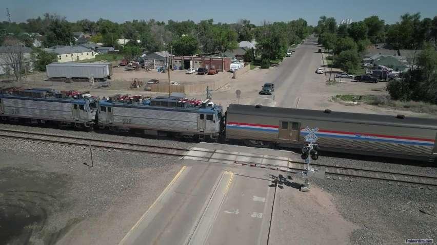 Amtrak 929 & 938 AEM-7 to CalTrain 6 June 2019