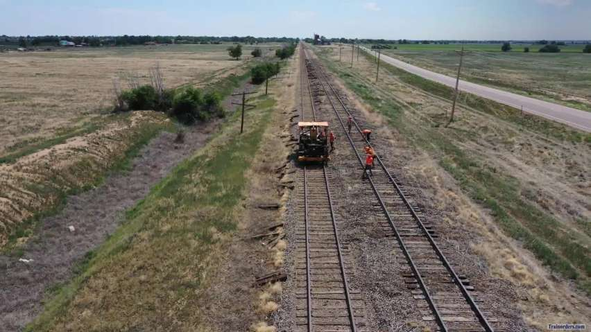 Colorado Pacific RR track work Ordway, CO