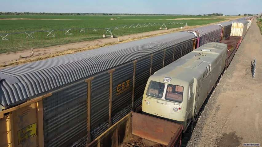 BNSF Vehicle Train Passed Egyptian Unit 26 June