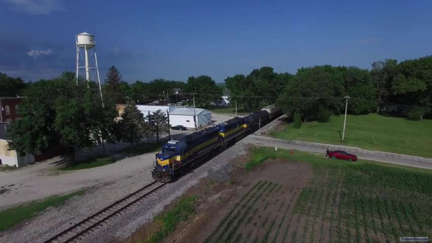 First Drone Railfanning Experience