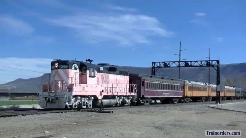 GWR (and UP) GP9 #296 in Heber Valley, Utah