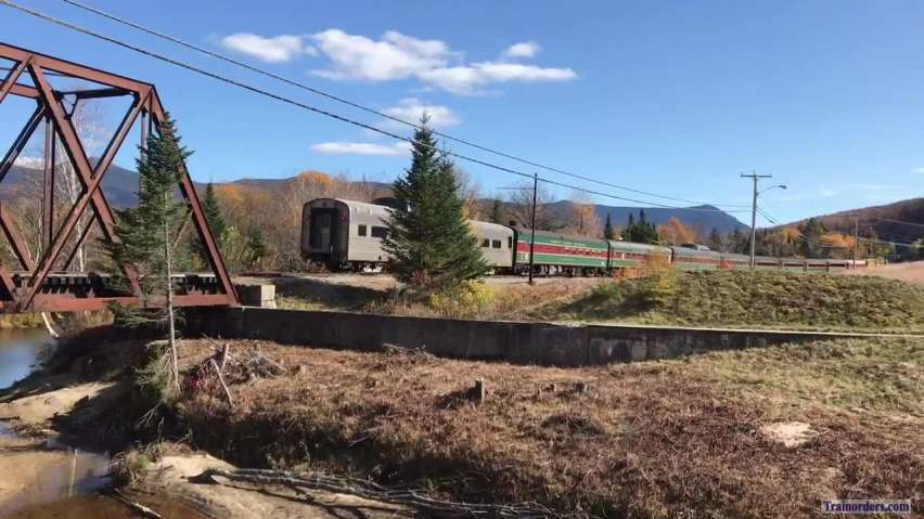 Passengers, domes and fall foliage in New Hampshire