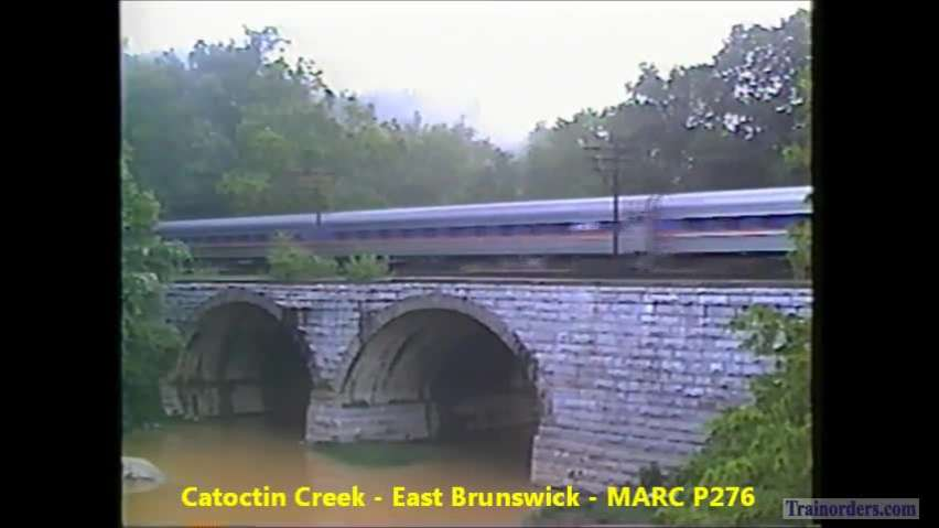Brunswick, MD 1994 - CSX and MARC E-unit