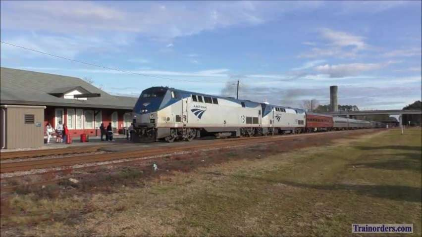 Amtrak Silver Meteor with DOT car