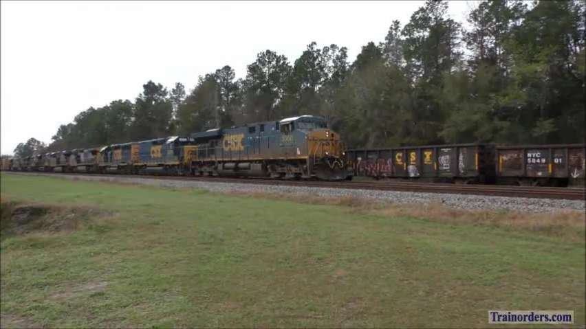 CSX Manifest with 9 locomotives