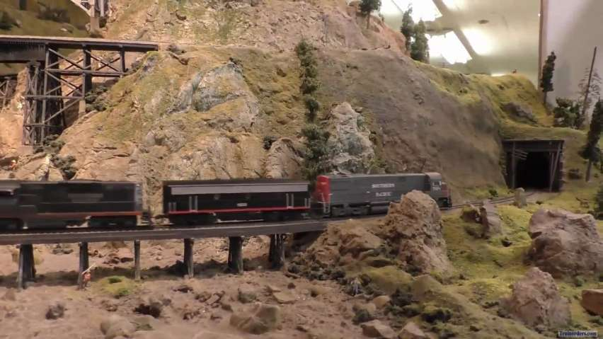 Passing Trains On Historic Randall Museum Model Railroad In SF