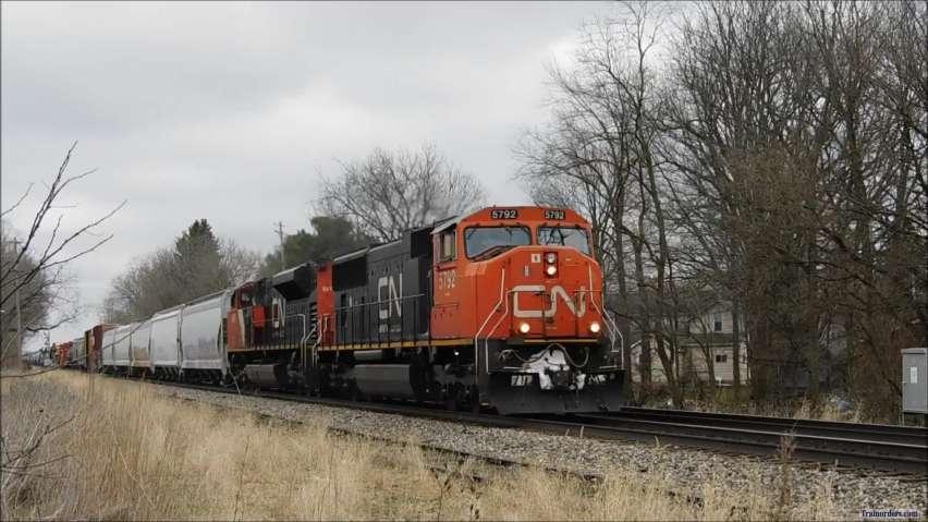 CN 5792 CN 8818 West, Monday, March 23, 2020