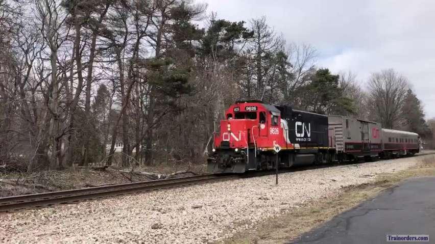 3/24/20 CN O998 Track Inspection Train on Flint Sub in Michigan