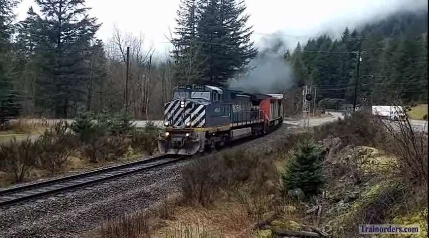 BC Rail in the Canyon