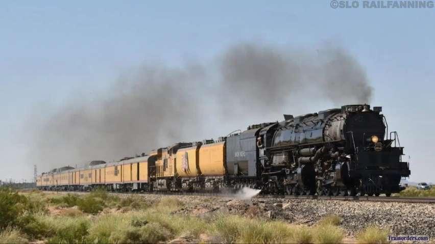UP 4014 Chase Through Arizona