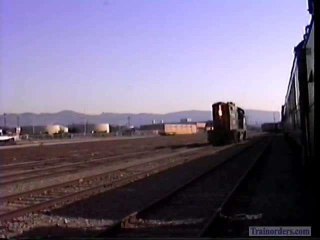 SP Passenger GP9 3189 At Oakland Army Base, 1993