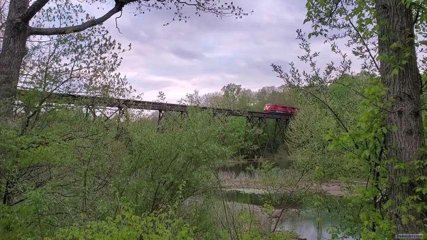 Indiana Railroad Glides Over Lake Lemon