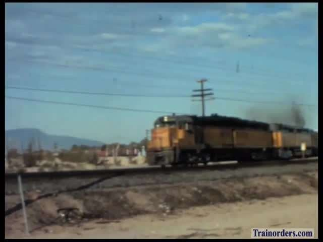 Union Pacific video Barstow area, big power action, early 1970s