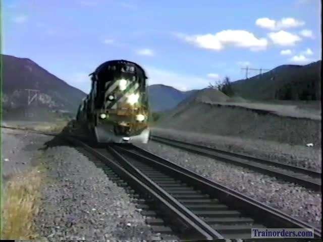 BC Rail, August 1987, Meet At Kelly Lake, BC