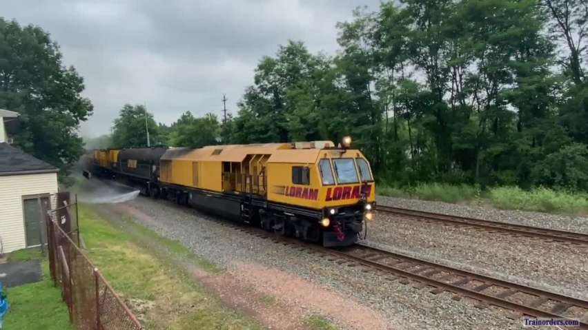 Friendly Loram crew grinding main two at MP 24.5 HARL