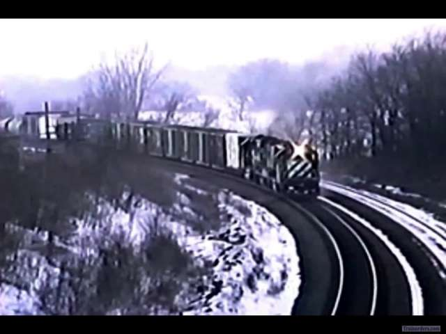 Winter Scenes at Burke Siding on the BN C&I Sub 30+ Years ago