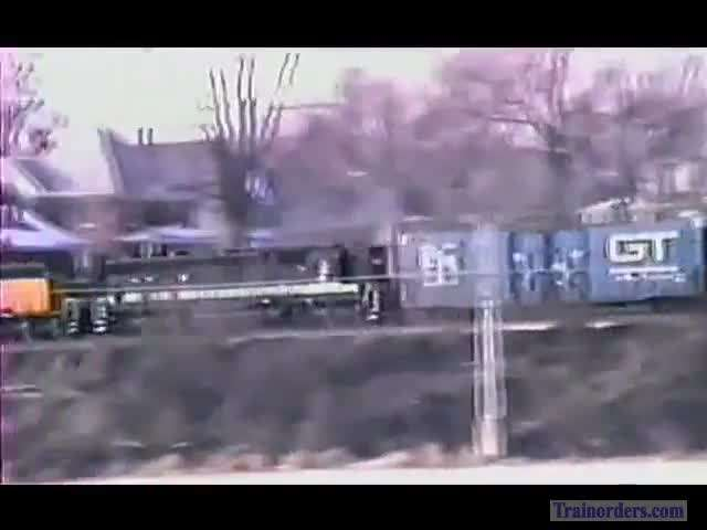 More Winter 1988- C&NW in Sterling, IL Across Rock River