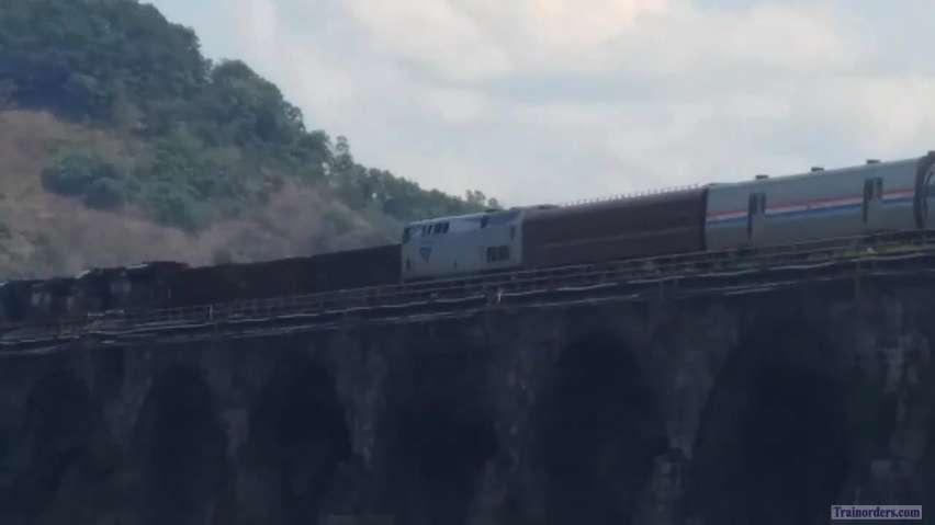 Amtrak Private Car Video From Sunday Over Rockville