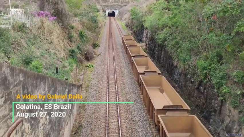 Vale 344 empty ore cars train (Brazil)