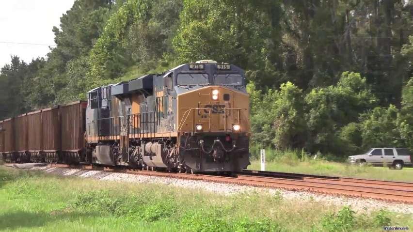CSX Coal train with mid-DPU