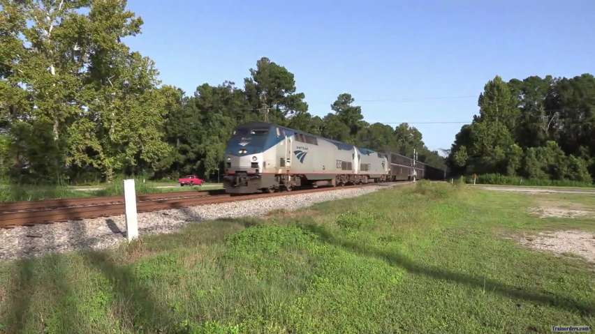A late southbound Auto Train