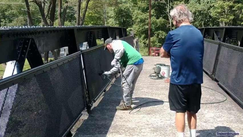 The Cassandra Iron Bridge gets fresh paint.