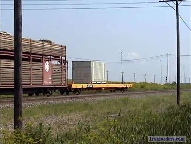 Military  train on BNSF.