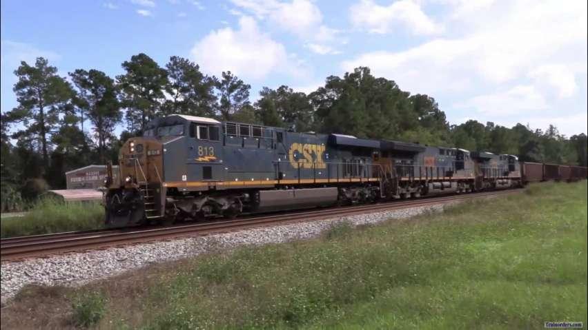 225-car Empty Coal train