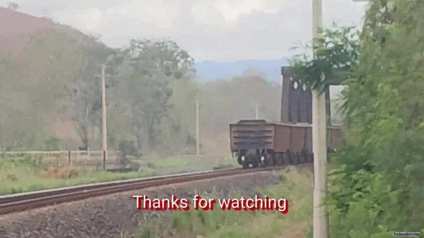 An empty 258 cars ore train (Brazil)