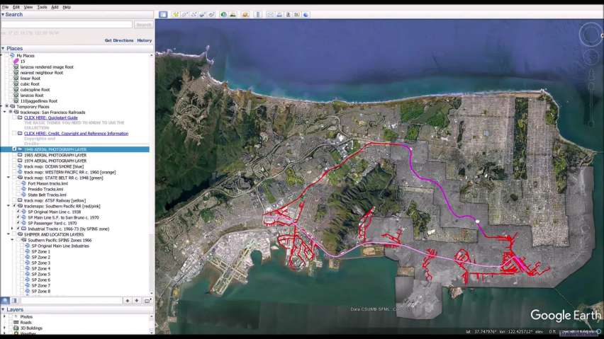 trackmaps:San Francisco Railroads for Google Earth...Quick Look