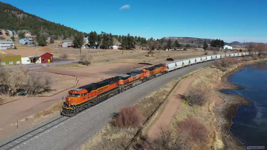 BNSF 296, SD75M on Colorado Joint Line 15 Nov
